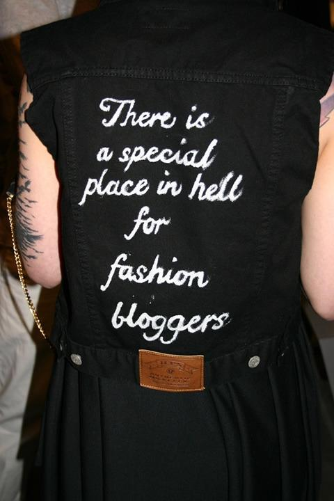 There is a special place in hell for fashion bloggers
