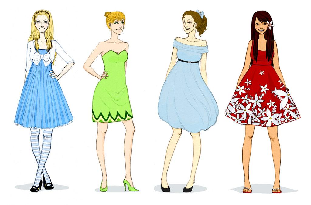 Disney princesses new clothes