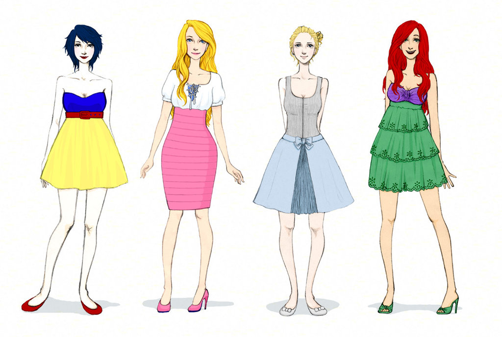 Disney princesses' new clothes