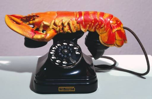 Elsa Schiaparelli and Salvador Dali lobster phone
