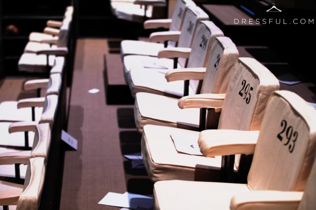 Emporio Armani Fall/Winter 2011/2012 show seats