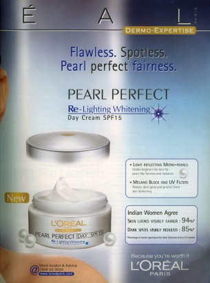 L'Oreal skin-lightening cream, Vogue India