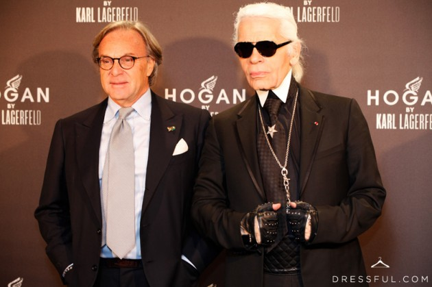 Diego Della Valle (CEO at Tod's) and Karl Lagerfeld