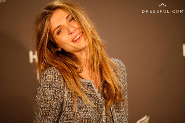 Elisa Sednaoui at Hogan by Karl Lagerfeld party in Paris