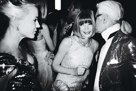 Daphne Guinness, Anna Wintour, Karl Lagerfeld