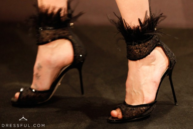 Jessica Stam shoes at Hogan by Karl Lagerfeld party in Paris
