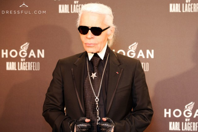 Karl Lagerfeld at Hogan by Karl Lagerfeld party in Paris