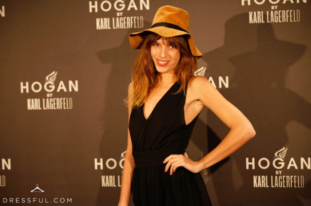 Lou Doillon at Hogan by Karl Lagerfeld party in Paris