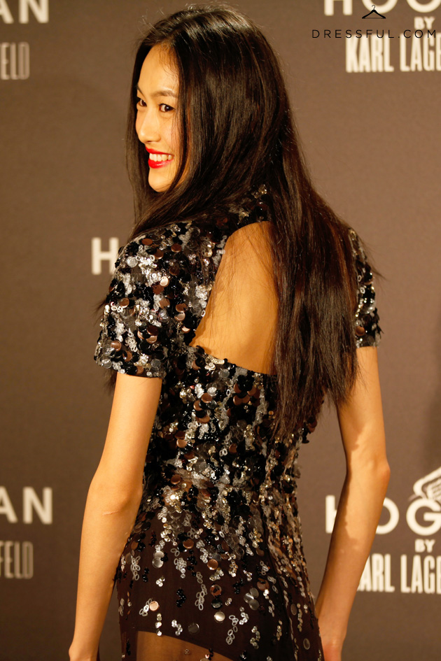 Shu Pei at Hogan by Karl Lagerfeld party in Paris