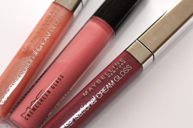 Lip glosses: MAC, Maybelline