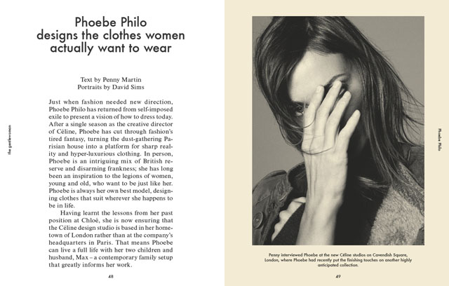 Spread from The Gentlewoman