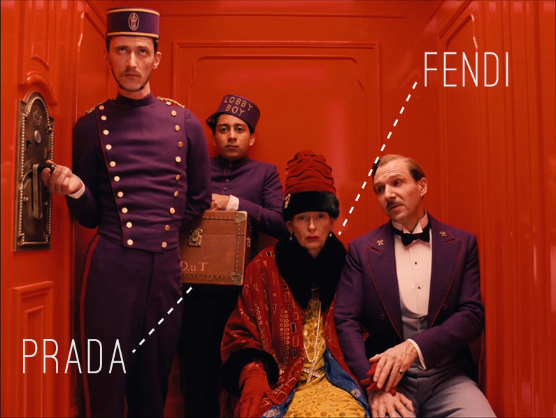 The Grand Budapest Hotel x Prada x Fendi