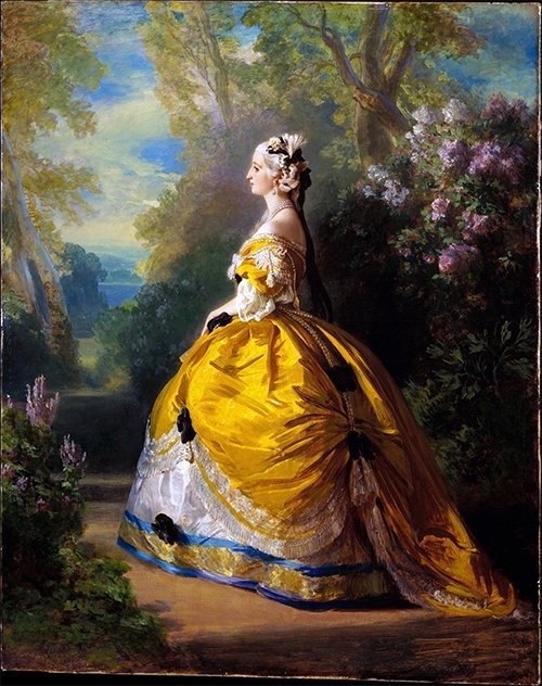 Empress Eugénie dressed as Marie-Antoinette, 1854, by Franz Xaver Winterhalter