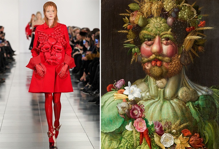 Left: Margiela, right: Vertumnus by Giuseppe Arcimboldo