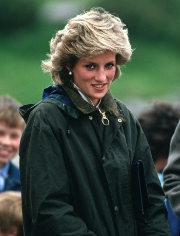 Princess Diana in a Barbour jacket